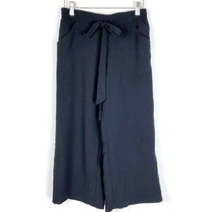 Anthropologie Cartonnier Black Wide Leg Crop Pants